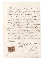 ORAN LE 10 AVRIL 1883 . QUITTANCE DE M. PÉRET ÉDOUARD A M. PÉRET PAUL SON GENDRE - Réf. N°81F - - Manuscripts