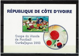LCA4 - COTE D'IVOIRE CARNET COUPE DU MONDE DE FOOTBALL COREE/JAPON 2002 - Côte D'Ivoire (1960-...)