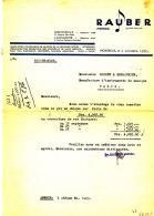 FA 1104 -  FACTURE -     PIANOS MUSIQUE & INSTRUMENTS    RAUBER  FRERES  MONTREUX- LAUSANNE - Switzerland