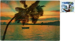 SEYCHELLES  Praslin Sunset  Nice Stamp  Bird Theme - Seychelles