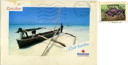 TANZANIA  Piroga  Dugout Canoe  Club Karibu Nice Stamp - Tanzania