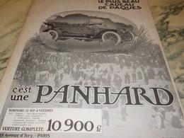 ANCIENNE PUBLICITE VOITURE BEAU CADEAU DE PAQUES   PANHARD  1912 - Voitures