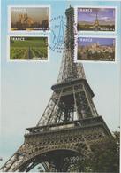 FRANCE    2009  Carte Postale  Y.T. N° 329  à  336  Autoadhésif  Complet  Oblitéré - Cartes-Maximum