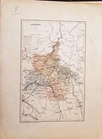 CARTE GEOGRAPHIQUE ANCIENNE: FRANCE: ARDENNES (08) (garantie Authentique. Epoque 19 ème Siècle) - Carte Geographique