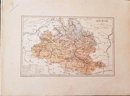 CARTE GEOGRAPHIQUE ANCIENNE: FRANCE: ARIEGE (09) (garantie Authentique. Epoque 19 ème Siècle) - Carte Geographique