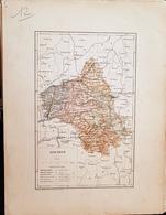 CARTE GEOGRAPHIQUE ANCIENNE: FRANCE: AVEYRON (12) (garantie Authentique. Epoque 19 ème Siècle) - Carte Geographique