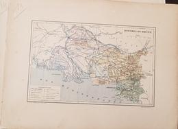 CARTE GEOGRAPHIQUE ANCIENNE: FRANCE: BOUCHES DU RHONE (13) (garantie Authentique. Epoque 19 ème Siècle) - Carte Geographique