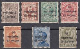 VENEZIA GIULIA, EMISSIONI GENERALI - 1919 - Lotto Sette Valori Nuovi (MH E MNH). - 8. WW I Occupation