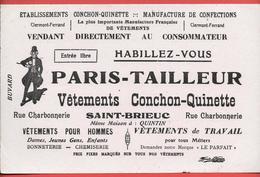 Buvard Ancien PARIS-TAILLEUR Ets CONCHON-QUINETTE à ST BRIEUC Et QUINTIN - Marque LE PARFAIT - Buvard L.HAMON à MORLAIX - Textilos & Vestidos