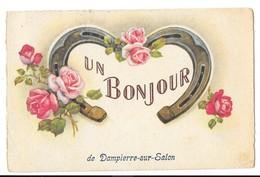 DAMPIERRE SUR SALON (70) Carte Fantaisie Bonjour De - Other Municipalities