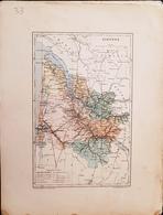 CARTE GEOGRAPHIQUE ANCIENNE: FRANCE: GIRONDE (33) (garantie Authentique. Epoque 19 ème Siècle) - Carte Geographique