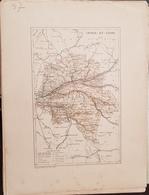 CARTE GEOGRAPHIQUE ANCIENNE: FRANCE: INDRE  ET LOIRE (37) (Garantie Authentique. Epoque 19 ème Siècle) - Carte Geographique