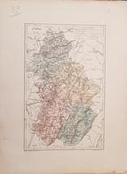 CARTE GEOGRAPHIQUE ANCIENNE: FRANCE: JURA (39) (Garantie Authentique. Epoque 19 ème Siècle) - Carte Geographique