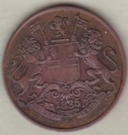 East India Company . 1/4 Anna 1835 B Bombay. William IV .KM# 446.1 - Inde