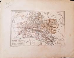 CARTE GEOGRAPHIQUE ANCIENNE: FRANCE: LOIRET (45) (Garantie Authentique. Epoque 19 ème Siècle) - Carte Geographique