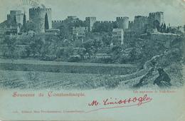 ZZ560 - TURQUIE Carte-Vue CONSTANTINOPLE - Tours De Yedi-Koulé - TP Bureau Autrichien 1899 - Türkei