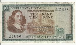 AFRIQUE DU SUD 10 RAND ND1966-76 VF P 113 - Afrique Du Sud