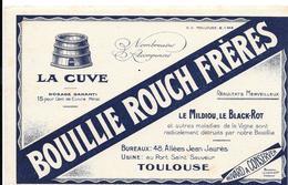 Buvard Ancien Agriculture : BOUILLIE ROUCH FRERES TOULOUSE Contre Le MILDIOU, LE BLACK ROT (lITHOGRAPHIE) LIQUET ANNONAY - Agriculture