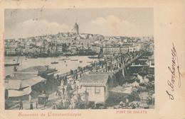 ZZ563 - TURQUIE Carte-Vue CONSTANTINOPLE - Pont De Galata - TP Bureau Autrichien 1900 - Türkei