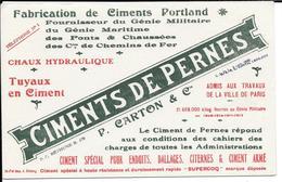 4 Buvards Anciens Industrie : CIMENTS DE PERNES à BETHUNE P.CARTON P/Administrations, Chemins De Fer, Ponts & Chaussées - Blotters