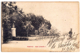 Portici (Napoli) - Viale Umberto I - 1908. - Portici