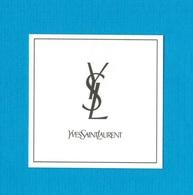 Cartes Parfumées Carte  YVES SAINT LAURENT - Modernes (à Partir De 1961)