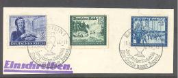 Reich   Michel #  888/891-92  Auf Briefstück  Mit SST  Eine Quelle Neuer Jugend Bad Gastein 15.6.44 - Allemagne