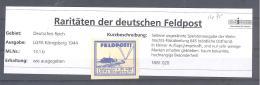 Reich  Feldpost LGPA Königsberg 1944  Michel # 13.1.b ** - Poste Privée