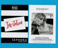Cartes Parfumées Carte  YVES SAINT LAURENT INVITATION SEPHORA - Modern (vanaf 1961)