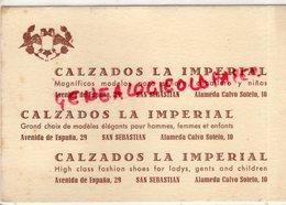 ESPAGNE- SAN SEBASTIAN- CALZADOS LA IMPERIAL -AVENIDA DE ESPANA 29- ALAMEDA CALVO SOTELO 10- - Spagna
