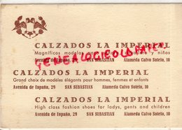 ESPAGNE- SAN SEBASTIAN- CALZADOS LA IMPERIAL -AVENIDA DE ESPANA 29- ALAMEDA CALVO SOTELO 10- - Spain