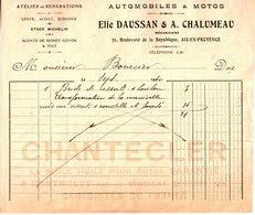Elie Daussan & A. Chalumeau. Mécanicien. Aix En Provence. Chanteclerc. Huile Autos. Automobiles & Motos.1930 - 1900 – 1949