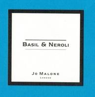 Cartes Parfumées  CARTE  JO MALONE LONDON  BASIL  & NEROLI - Modern (from 1961)