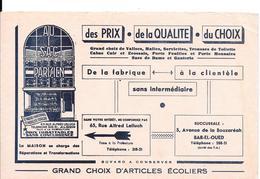 Buvard Ancien Maroquinerie : AU SAC PARISIEN  à ALGER Et BAB-EL-OUED - FABRICANT -  Illustration Du Magasin - Buvards, Protège-cahiers Illustrés