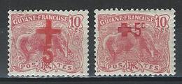 Guyane Yv. 73-74, Mi 73-74 * - Nuovi