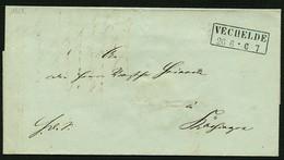 BRAUNSCHWEIG 1868, BRIEF MIT SCHWARZEN R2 VECHELDE NACH SCHÖNINGEN, TOPP! - Braunschweig
