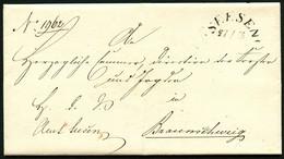 BRAUNSCHWEIG 1849, BRIEF MIT INHALT, STPL-HALBKREIS SEESEN NACH BRAUNSCHWEIG - ...-1849 Vorphilatelie