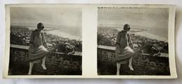 Photo Stéréoscopique Originale Le Havre 1927 Entrée Du Port Vu De La Terrasse Du Chapeau De Napoléon - Stereoscopic