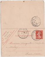 Carte Lettre Commerciale / Entier 1910 / Moulins Charron Forgeron / Culoison Par Sainte-Maure / 10 Aube - Maps
