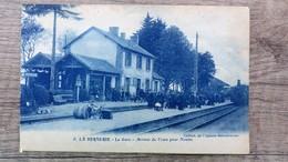 CPA LA BERNERIE La Gare Arrivée Du Train Pour Nantes 44 Loire Inférieure Côte De Jade Belle Animation - La Bernerie-en-Retz