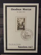 France - Carte Postale Oradour Martyr - 10 Juin 1944 - Lettres & Documents