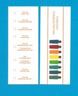 Cartes Parfumées  Carte COLLECTION  8 COLOGNES Avec EAU De CITRON NOIR  HERMES - Modernes (à Partir De 1961)