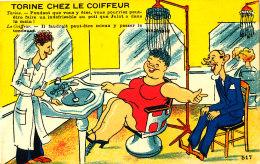 AK 535 / C P A -  TORINE CHEZ LE COIFFEUR - Humor