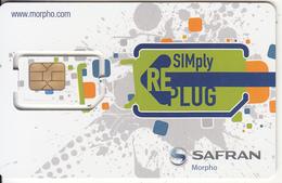 FRANCE - SIMply RE Plug, SAFRAN Morpho GSM Demo Card(multi Sim), Chip F15, Mint - France