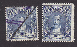 Guatemala, Scott #300 X2, 300a, Used/Mint Hinged, Barrios, Issued 1941 - Guatemala
