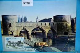 M1023 FDC Europa 1978 CEPT, Pont Des Trous, Tournai Hainaut, Brücke, Bridge, Puente, BE 1978 - Cartes-maximum (CM)