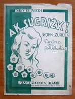 Sheet Music Lithuania Ak, Sugrizk (Komm Zuruck) 1944 - Music & Instruments