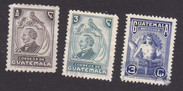 Guatemala, Scott #316, 319, 322, Used, Montufar, Labor, Issued 1946-48 - Guatemala