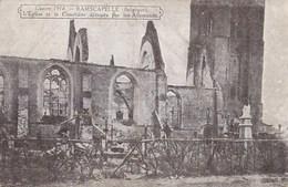 Ramskapelle, Ramscapelle L'Eglise Et Le Cimetière Detrouts Par Les Allemands WW1 1914  (pk46652) - Nieuwpoort