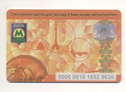 UKRAINE Kyiv Metro Subway TICKET Reusable Reloadable 2012 Thick Plastic - Season Ticket